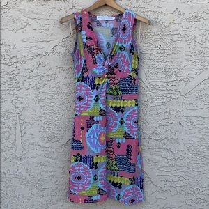 TRACY NEGOSHIAN • Printed Twist Sleeveless Dress